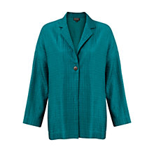 Buy East Calvin Silk Embroidery Jacket, Flamingo Online at johnlewis.com
