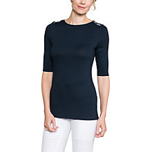 Buy East Jersey Stripe Shoulder Seam Top, Navy Online at johnlewis.com