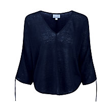 Buy Pure Collection Linen Tie Sleeve Jumper Online at johnlewis.com