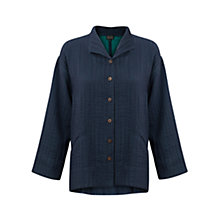 Buy East Faith Collar Swing Coat, Indigo Online at johnlewis.com