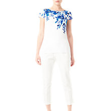 Buy Precis Petite Lilah Printed Jersey Top, White/Dark Blue Online at johnlewis.com