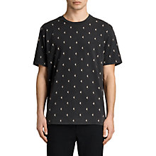 Buy AllSaints Lightning Print T-Shirt, Black Online at johnlewis.com