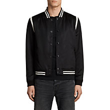 Buy AllSaints Matsu Varsity Bomber Jacket, Black/White Online at johnlewis.com