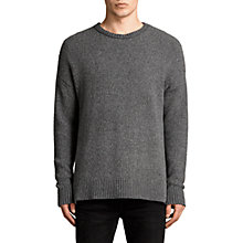 Buy AllSaints Minami Relaxed Fit Crew Neck Jumper, Charcoal Marl Online at johnlewis.com