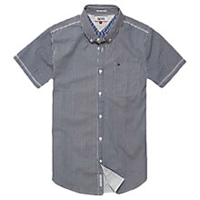 Buy Hilfiger Denim Geo Print Short Sleeve Shirt, Marshmallow Online at johnlewis.com