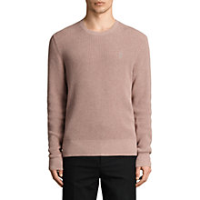 Buy AllSaints Trias Slim Fit Waffle Knit Jumper Online at johnlewis.com