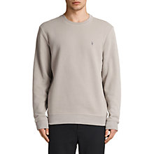 Buy AllSaints Raven Crew Neck Sweatshirt, Concrete Grey Online at johnlewis.com