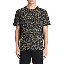 Buy AllSaints Leap Animal Stencil T-Shirt, Jet Black Online at johnlewis.com