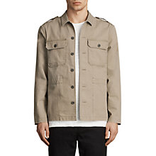 Buy AllSaints Dieppe Long Sleeve Shirt, Olive Green Online at johnlewis.com