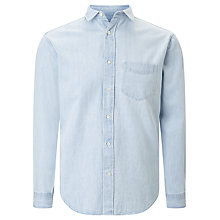 Buy Gant Indigo Denim Shirt, Light Indigo Online at johnlewis.com