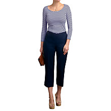 Buy Pure Collection Laundered Linen Cropped Trousers Online at johnlewis.com