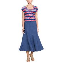 Buy East Linen Cut About Midi Skirt, Rivera Online at johnlewis.com