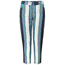 Buy East Henley Print Capri Trousers, Indigo Online at johnlewis.com