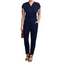 Buy Pure Collection Jersey Tie Detail Jumpsuit, Navy Online at johnlewis.com