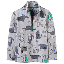 Buy Little Joule Boys' Dale All-Over Wolf Sweatshirt, Grey Online at johnlewis.com