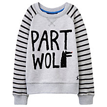 Buy Little Joule Boys' Part Wolf Sweatshirt, Grey Online at johnlewis.com