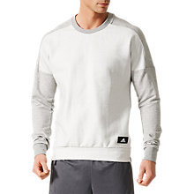 Buy Adidas ID Crewneck Men's Sweatshirt, Grey Online at johnlewis.com