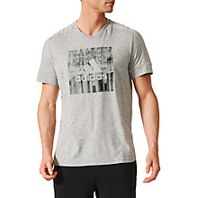 Buy Adidas ID Flash T-Shirt, Grey Online at johnlewis.com