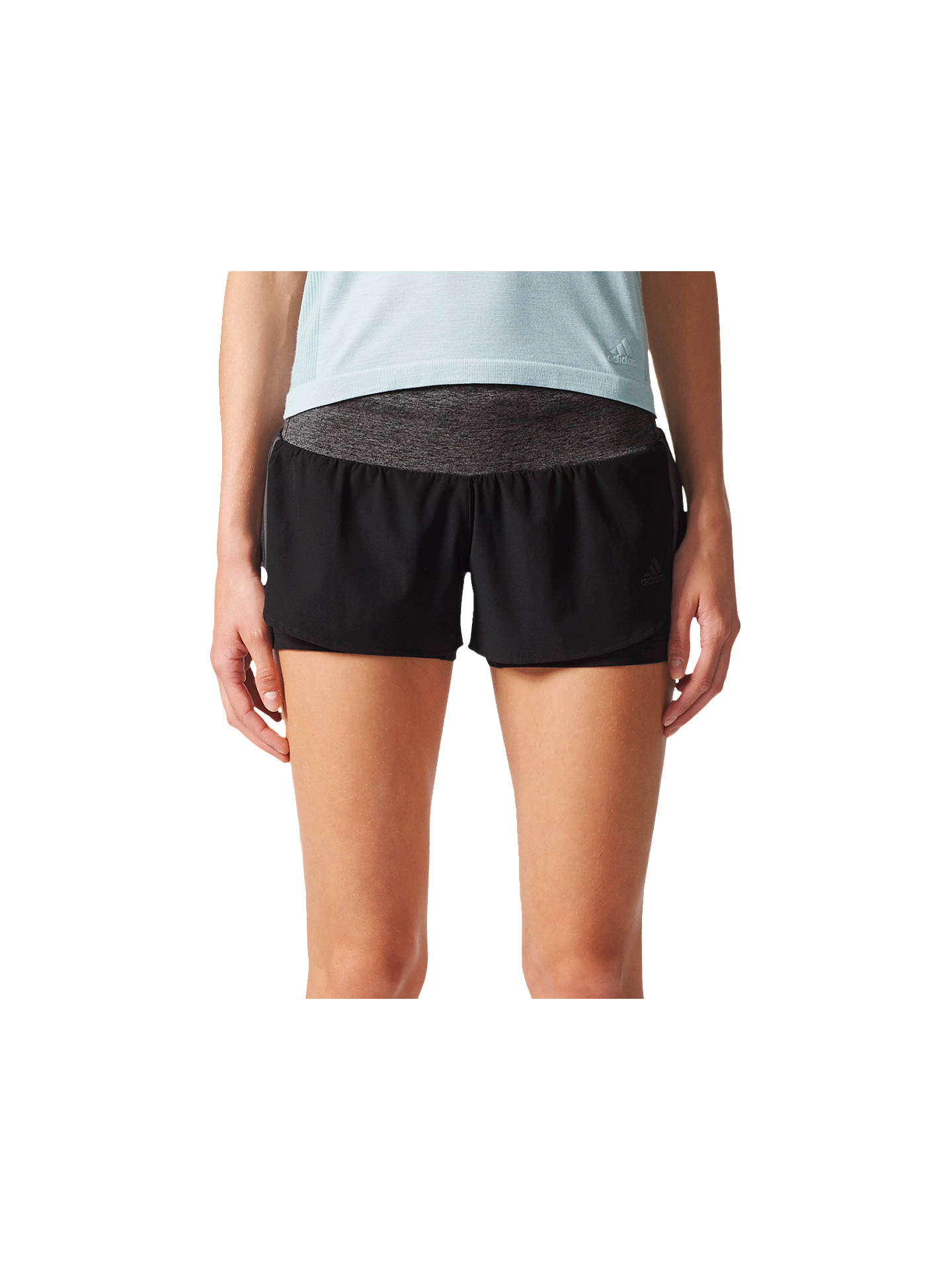 new styles 13118 f6d99 Buyadidas Ultra Energy Running Shorts, Black, XS Online at johnlewis.com ...