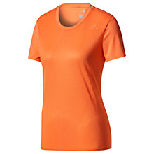 Buy Adidas Supernova Regular Fit Running T-Shirt, Coral Online at johnlewis.com