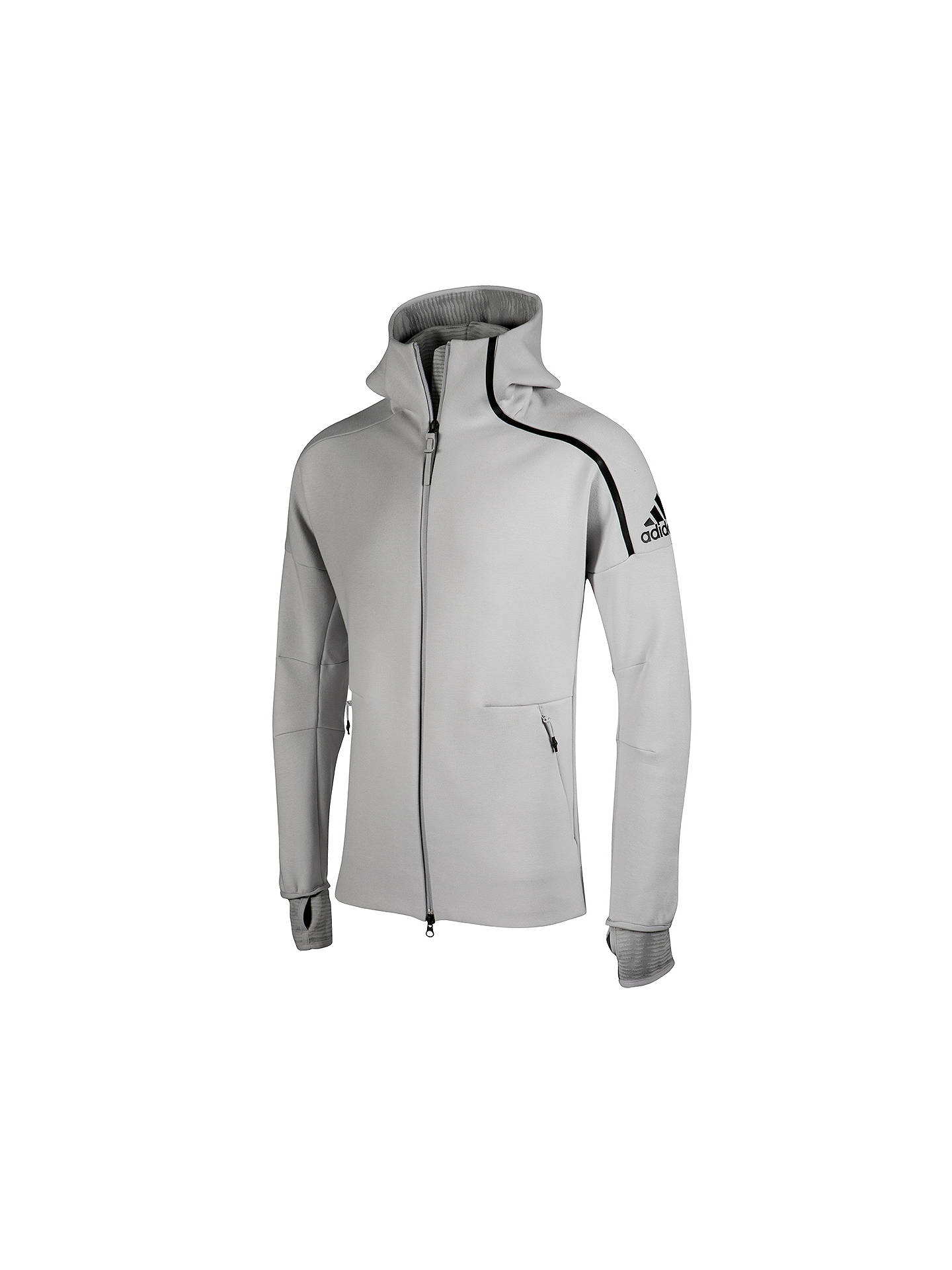 e0ccbb4aa Buy adidas ZNE Pulse Men's Hoodie, Grey, S Online at johnlewis. ...