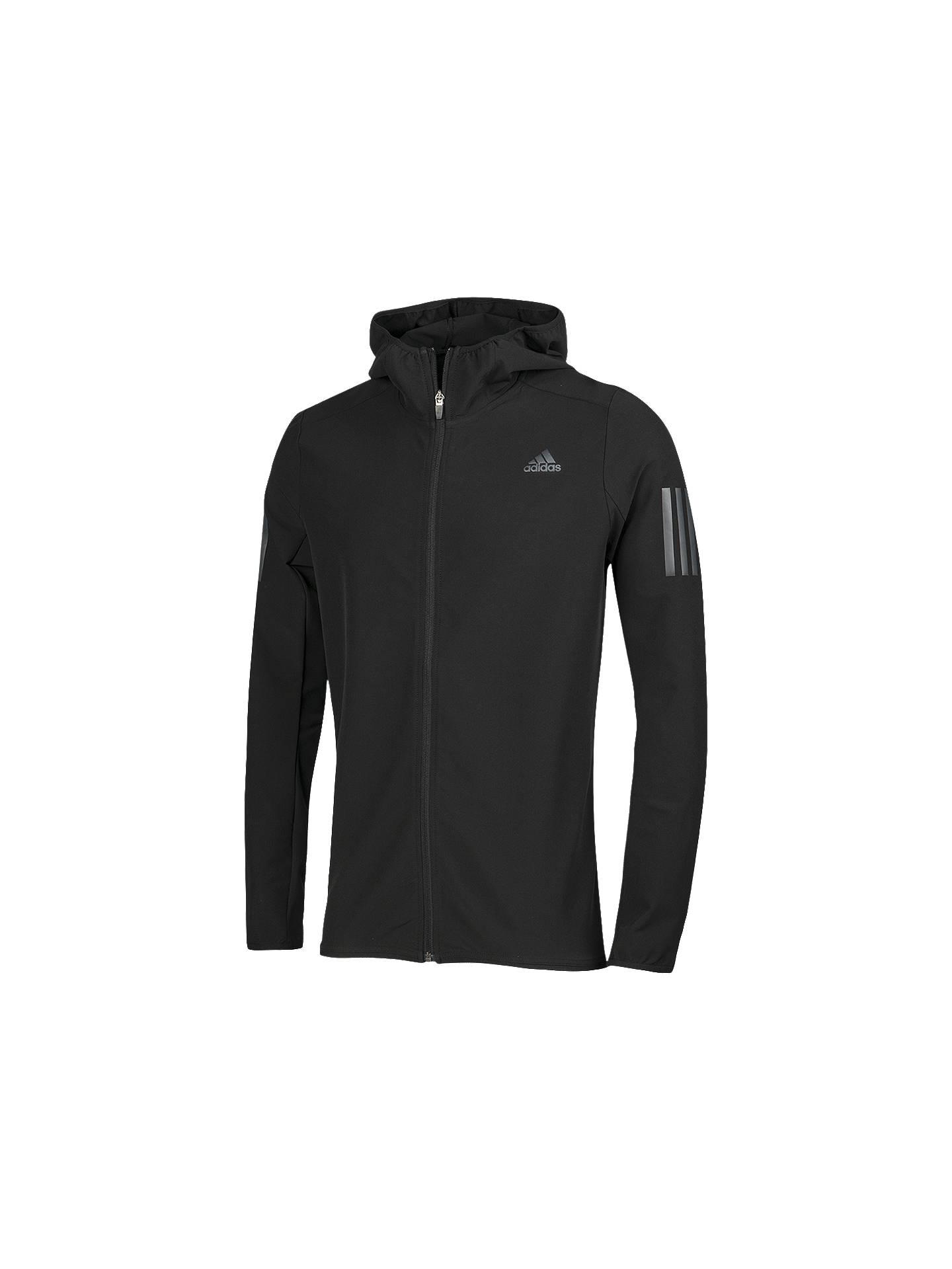ebb1f9726 Buy adidas Response Shell Men's Running Jacket, Black, S Online at  johnlewis. ...
