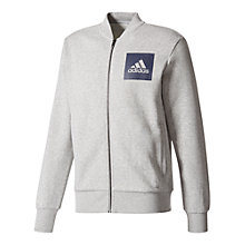 Buy Adidas Essentials Bomber Jacket, Grey Online at johnlewis.com