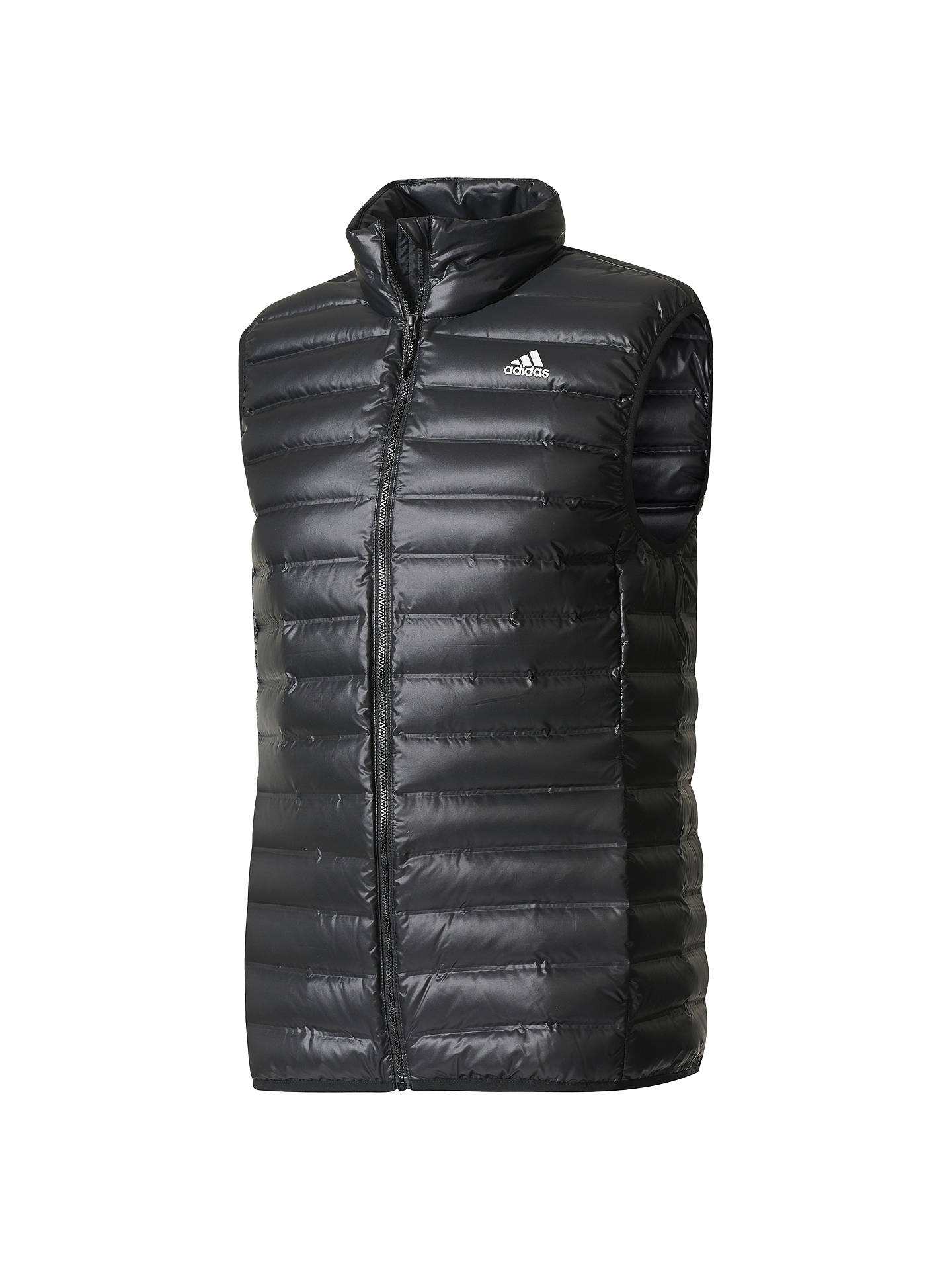 finest selection 92c80 ee7c4 Buy adidas Varilite Down Vest Gilet, Black, S Online at johnlewis.com ...