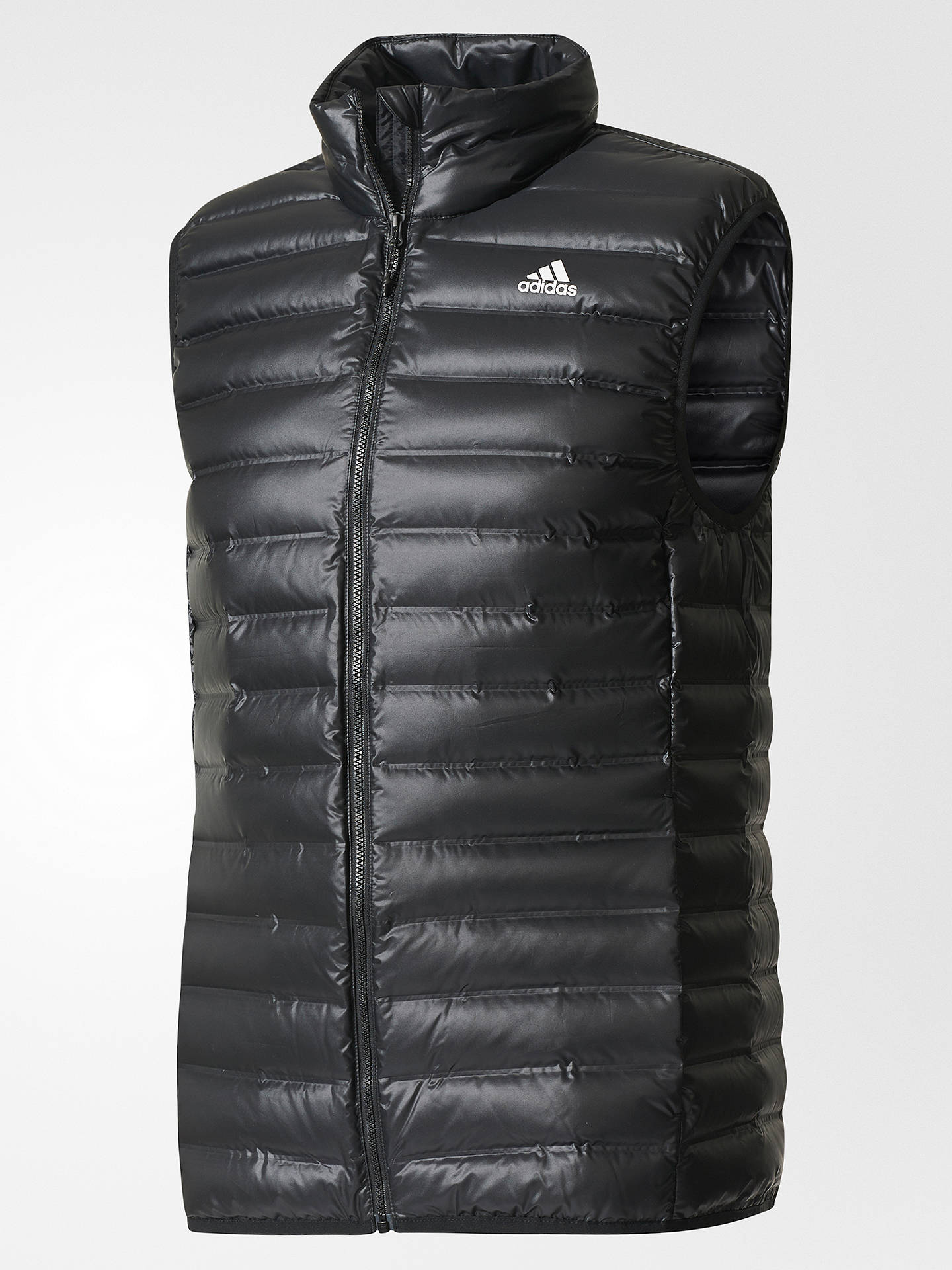 Buyadidas Varilite Down Vest Gilet, Black, S Online at johnlewis.com