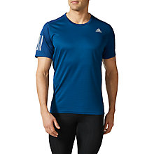 Buy Adidas Response Short Sleeve Running T-Shirt, Blue Online at johnlewis.com
