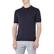 Buy Reiss Manor Short Sleeve Polo Shirt, Indigo Online at johnlewis.com