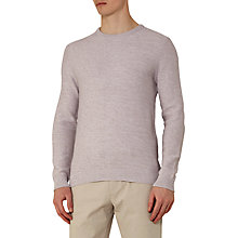 Buy Reiss Gerry Melange Crew Neck Jumper, Grey Online at johnlewis.com