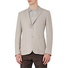 Buy Reiss Blaine Hopsack Wool Modern Fit Blazer, Stone Online at johnlewis.com