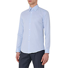 Buy Reiss Colton Large Collar Slim Fit Shirt, Soft Blue Online at johnlewis.com