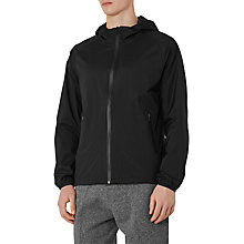 Buy Reiss Soul Lightweight Hooded Jacket, Black Online at johnlewis.com