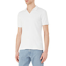 Buy Reiss Exmoor Textured Cotton Polo Shirt, White Online at johnlewis.com