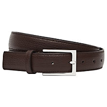 Buy Reiss Theo Grained Leather Belt Online at johnlewis.com