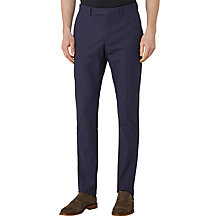 Buy Reiss Serge Check Tailored Trousers, Navy Online at johnlewis.com