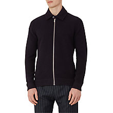 Buy Reiss Dover Boiled Wool Full Zip Top, Navy Online at johnlewis.com