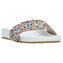Buy Dune Loveheart Beaded Slider Sandals, White Online at johnlewis.com