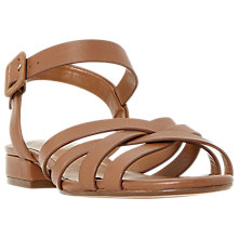 Buy Dune Wide Fit Insley Cross Strap Sandals Online at johnlewis.com