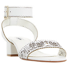 Buy Dune Immie Laser Cut Two Part Sandals Online at johnlewis.com