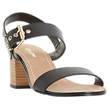 Buy Dune Wide Fit Jany Buckle Block Heeled Sandals Online at johnlewis.com