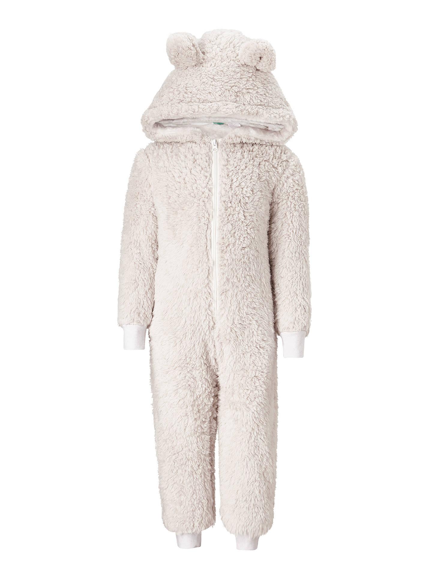 63bfc4922 Buy John Lewis Children's Fleece Bear Onesie, Beige, 3 years Online at  johnlewis.