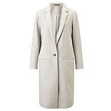 Buy Samsoe & Samsoe Cava Wool-Blend Coat, Light Grey Marl Online at johnlewis.com