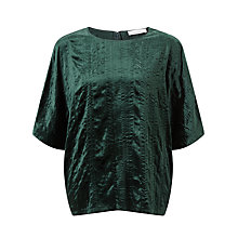 Buy Samsoe & Samsoe Mine Velvet Top, Scarab Online at johnlewis.com