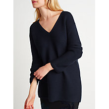 Buy Samsoe & Samsoe Mara V-Neck Jumper, Dark Sapphire Online at johnlewis.com