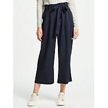 Buy Samsoe & Samsoe Audrey Cropped Trousers, Dark Sapphire Online at johnlewis.com
