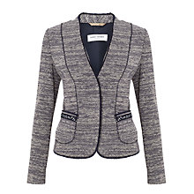 Buy Gerry Weber Tweed Jacket, Blue Figured Online at johnlewis.com