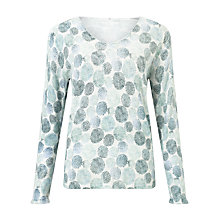 Buy Gerry Weber Long Sleeve Printed Jumper, Grey/Green Online at johnlewis.com